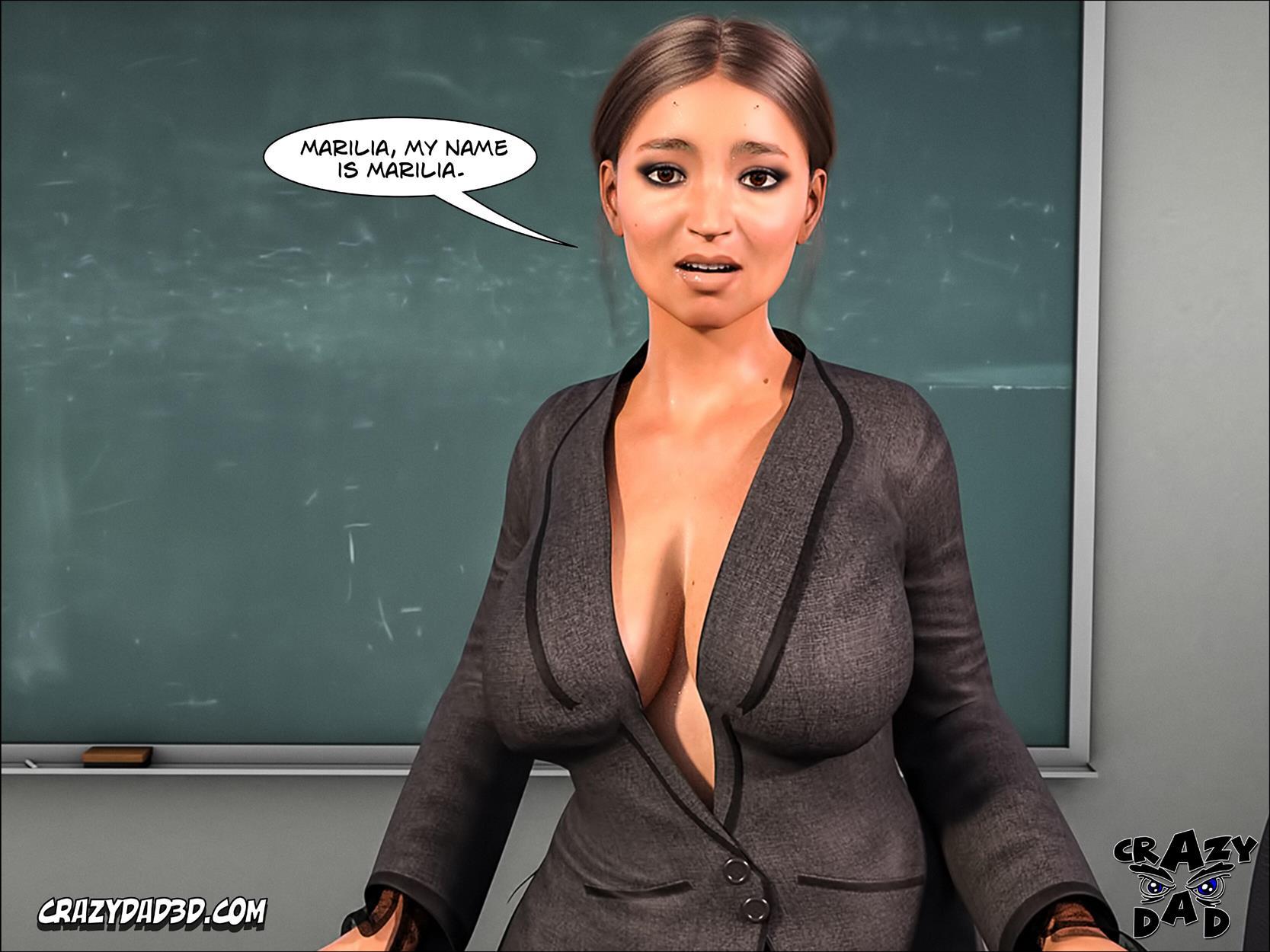 Spank 2 -Teacher Marilia [Crazy Dad 3D] - Foto 13