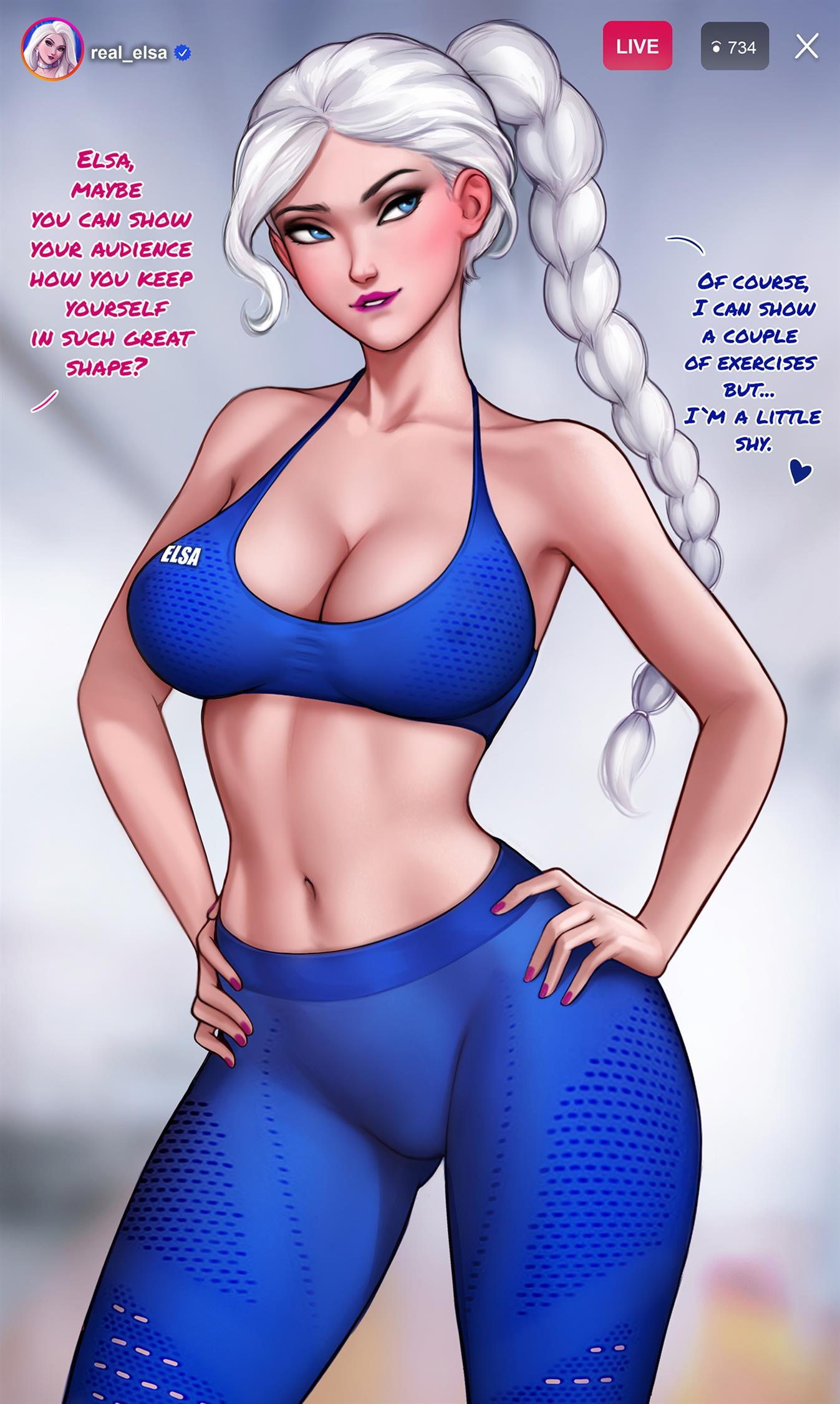 How to train your ass with Elsa (Frozen) [Aroma Sensei] - Foto 2
