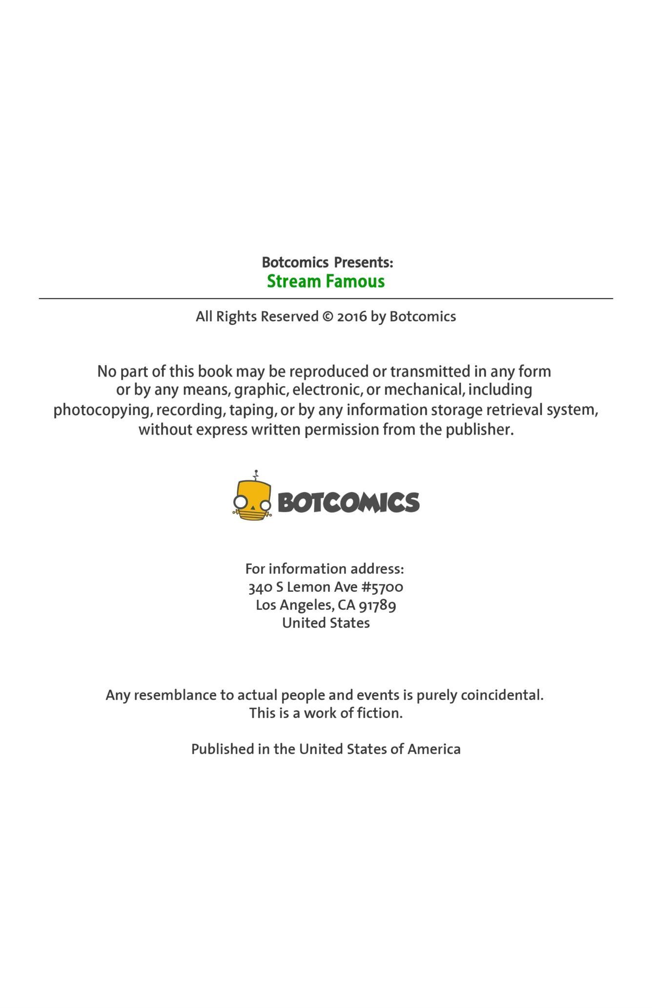 Stream Famous Issue 1 [BotComix] - Foto 2